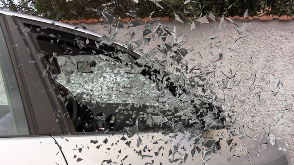 car accident happening