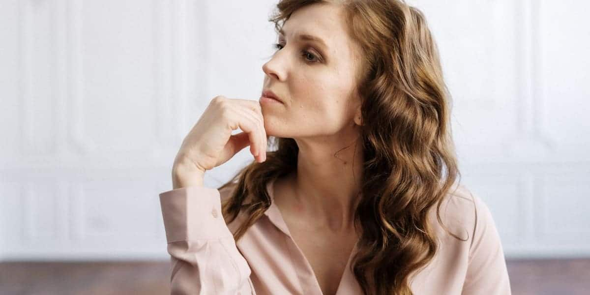 woman thinking about how divorce is hard